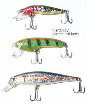 Some barramundi fishing lures