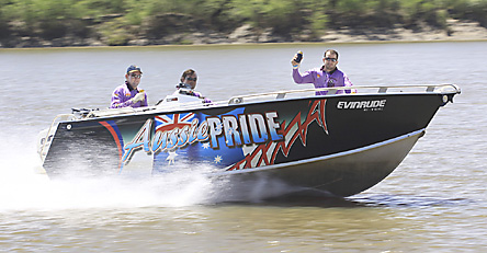 A barramundi fishing boat at a competition