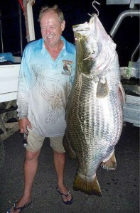 Denis Harold's Lake Monduran Record Barramundi