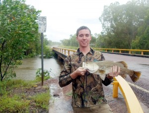 Turtle's culvert barramundi fishing success